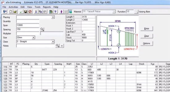 ASa Estimating Software For Reinforcement Estimation