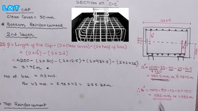 Bar Bending Schedule Calculation | Pile Cap Bar Bending Schedule