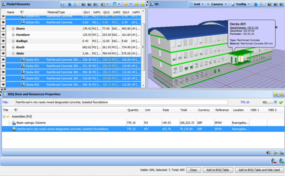 BIM based Estimating Software