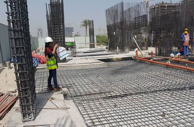 Some vital steps for construction of reinforced concrete ground floor slab of a high rise building