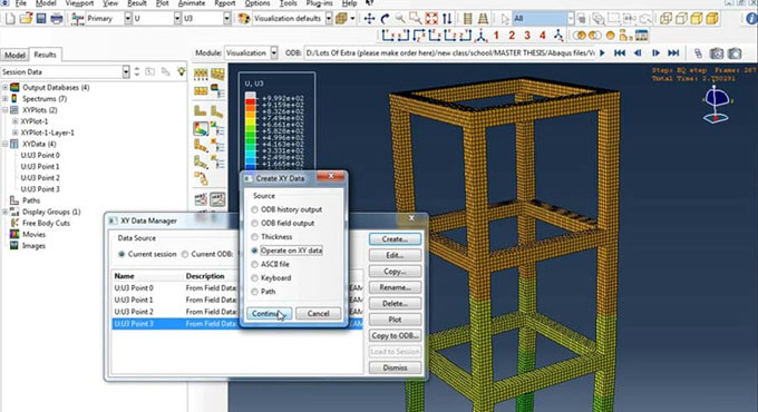 How to model the framed reinforced concrete based multi-stories structures with Abaqus
