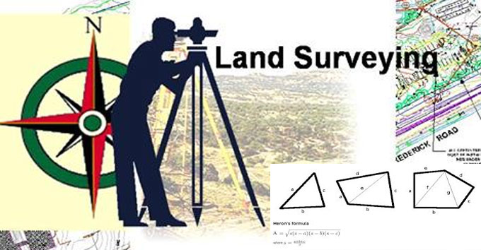 How to measure the area of land with various methods
