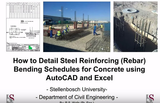 Process for bending a schedule for concrete construction