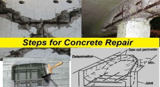 Repairing Concrete Damages in Reinforced Structures