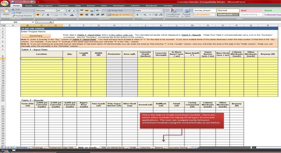 Construction cost estimating blog march 2014 for Concrete estimate template