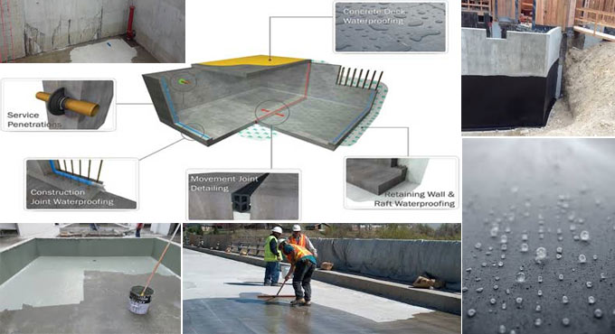 Details of concrete waterproofing