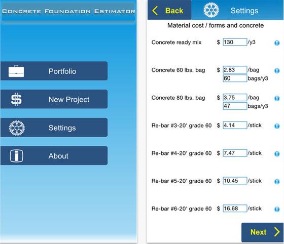 Estimating software concrete software concrete cost for Concrete basement cost estimator