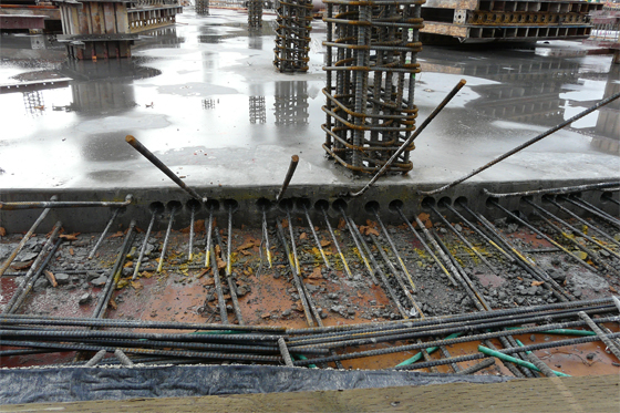 Detailed process for concreting