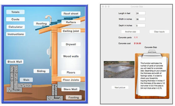 Construction Estimator 1.1 for Mac OS X can streamline your estimating process