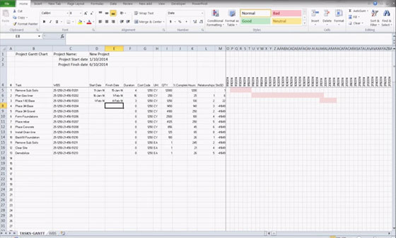excel construction schedule templates for project management