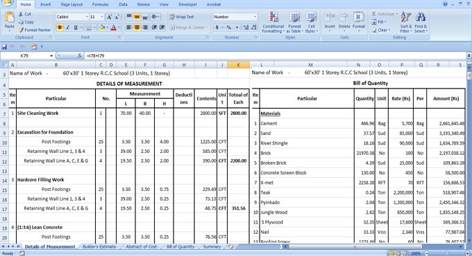Cost Estimation Rcc Building Excel Sheet Download Estimation Excel Sheet