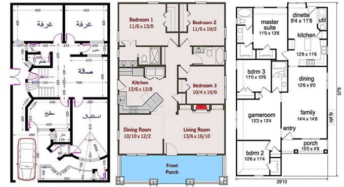 Top Amazing House Plans For Different Size Areas