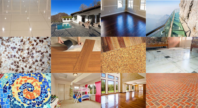 Various types of popular flooring materials
