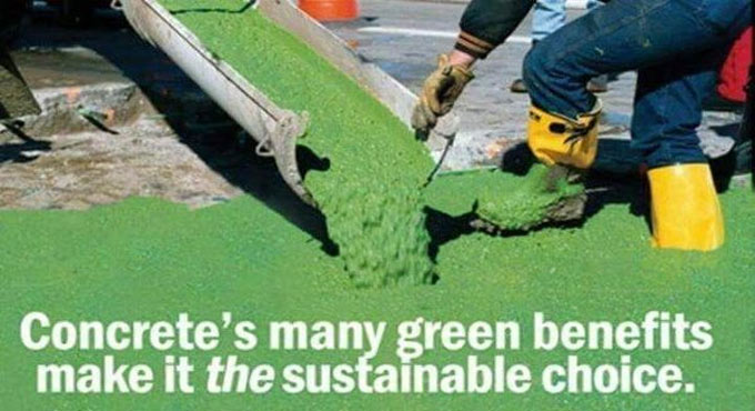 Green concrete is gaining popularity among construction industries