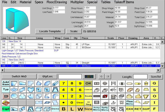 Hvac estimating software cost estimation for Plumbing material spreadsheet