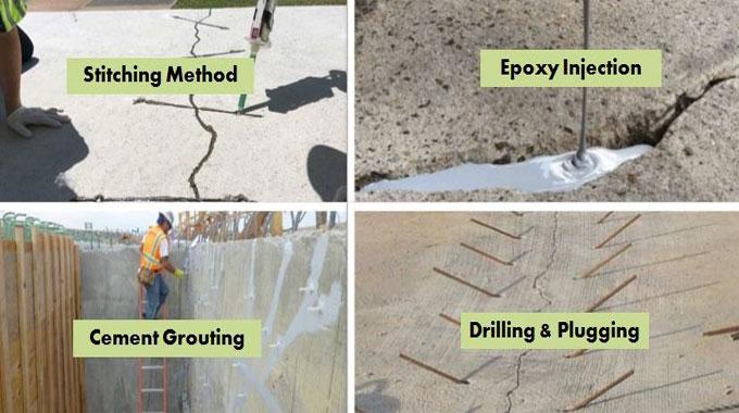 Methods of Repairing Cracks in Concrete