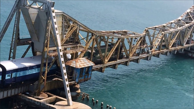 Details of Construction work of Pamban Bridge