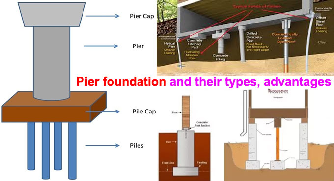 Pier foundation and their types, advantages