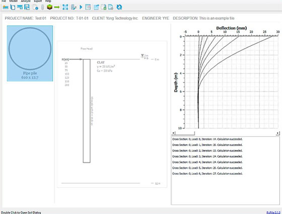 PayPile is a useful construction software for lateral analysis