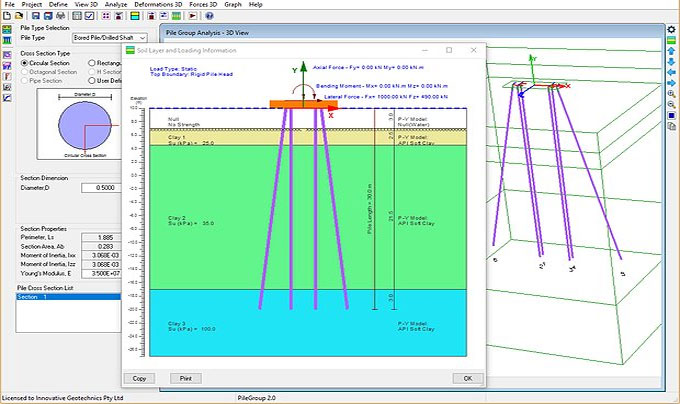 PileGroup is an exclusive software for geotechnical engineering