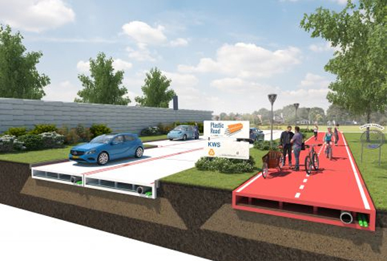 Plastic Road is gaining popularity in road construction project