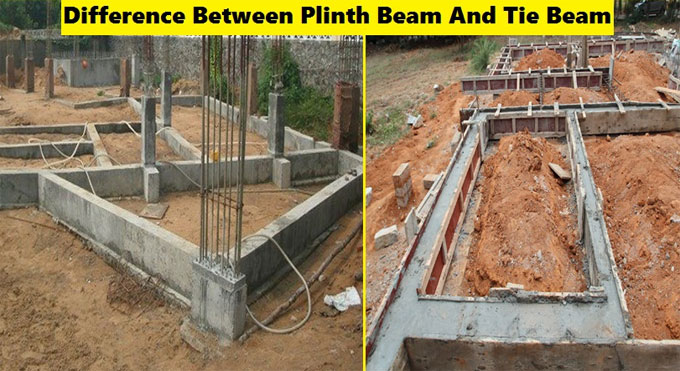 Definition of plinth beam & tie beam and differences among them