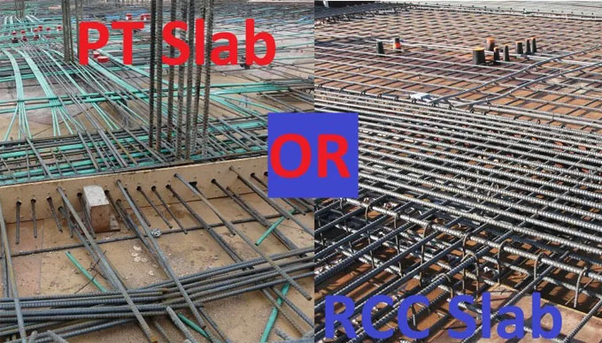 Concrete slab cost comparison with PT slab cost