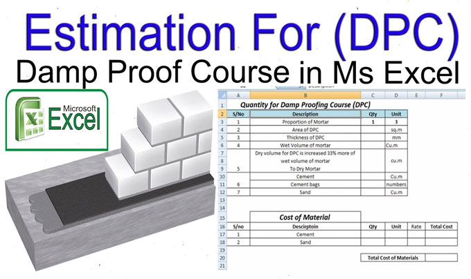 How to calculate the material quantity of Damp Proof Course