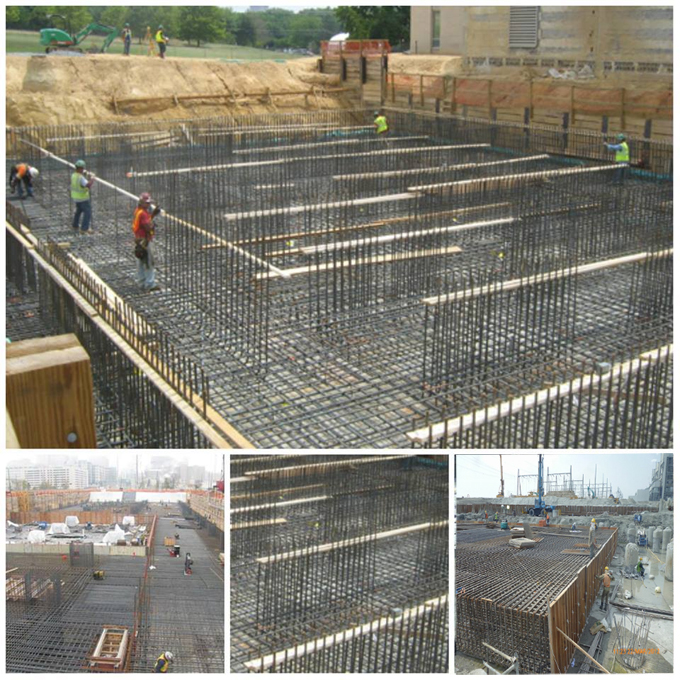 Step-by-step processes for designing a raft foundation