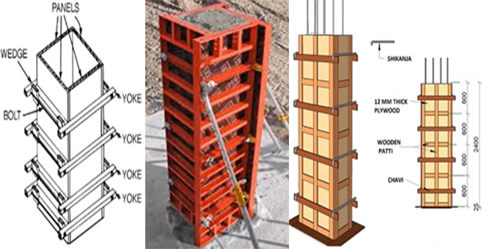 How to set up RCC Column Formwork On Site