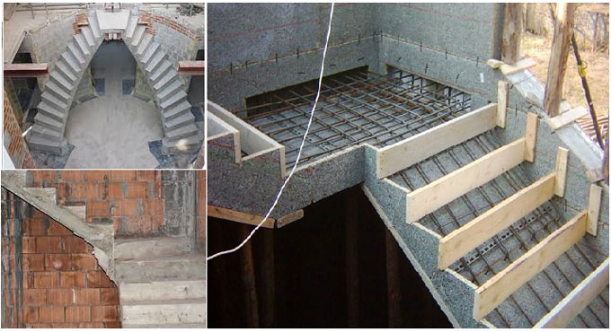 Type of Formwork for Concrete Stairs