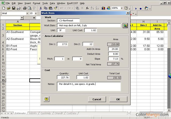 Roof Construction Roof Construction Cost Estimator
