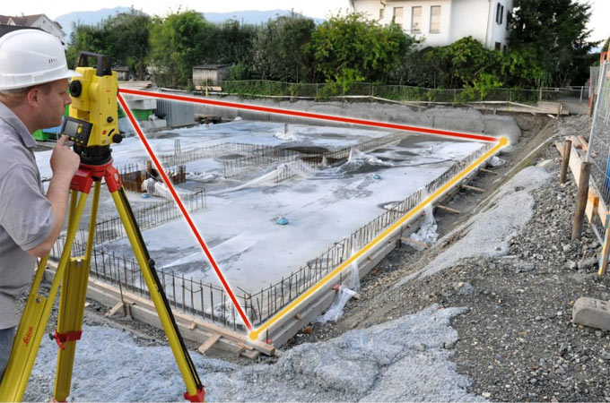 How to organize a total station for taking measurements