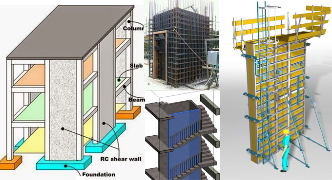 Load transfer system in shear walls