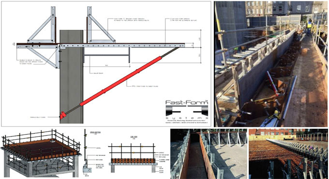 Fast Form Bracket System offers complete slab wall & sheet pile capping formwork Solution