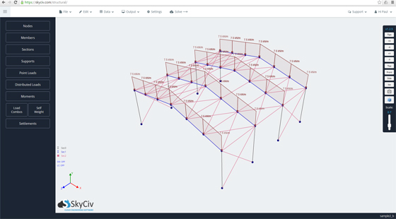SkyCiv – A cloud based construction software for 3D Structural Analysis