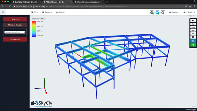 SkyCiv Structural 3D is a cloud based structural 3D analysis software