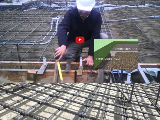 Build a concrete slab footing of modern buildings