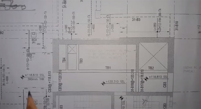 Construction tips to study slab reinforcement drawing Y Direction Bar