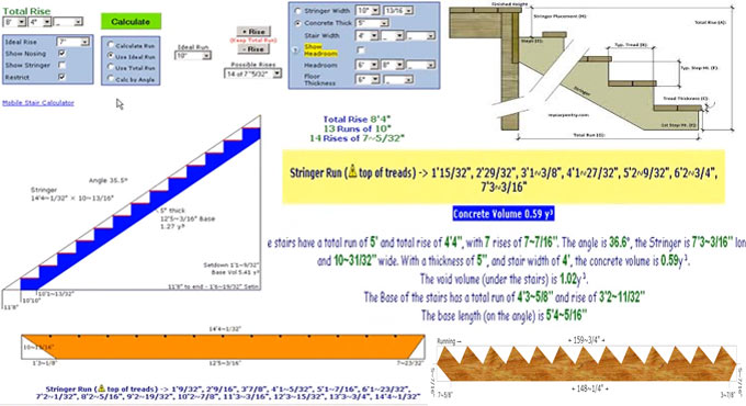 Online calculation for stairs with full plan by Stair Calculator