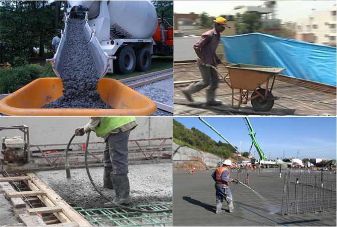 Some common types of concrete curing methods