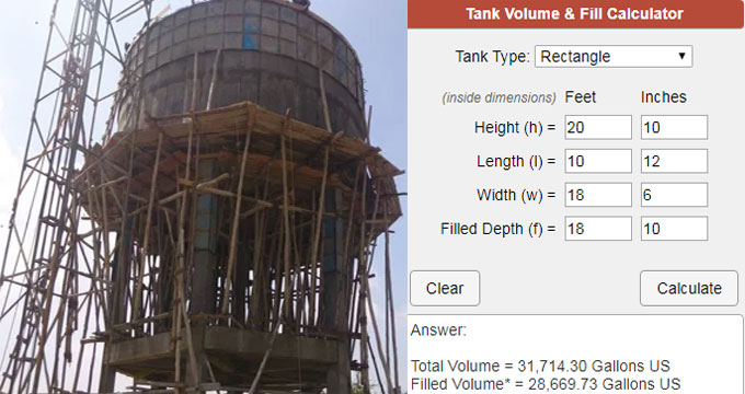 How To Find Sump And Tank Capacity | Sump And Tank Volume