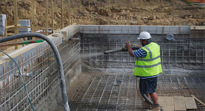 Swimming Pool Reinforcement : Reinforcement concrete construction