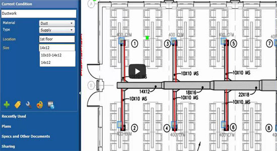 Useful video for beginners and advanced cost estimating professional how to takeoff hvac using cloud takeoff malvernweather Choice Image