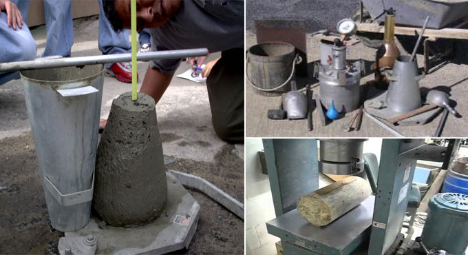 Some vital tests of concrete