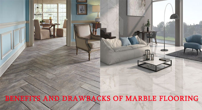 Benefits and drawbacks of marble flooring