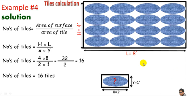 How to calculate the number of tiles for different types of tiles surfaces