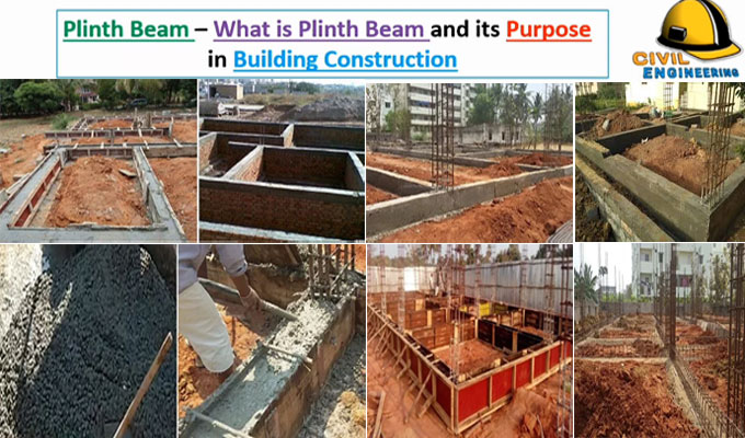 Usages and construction method of plinth beam