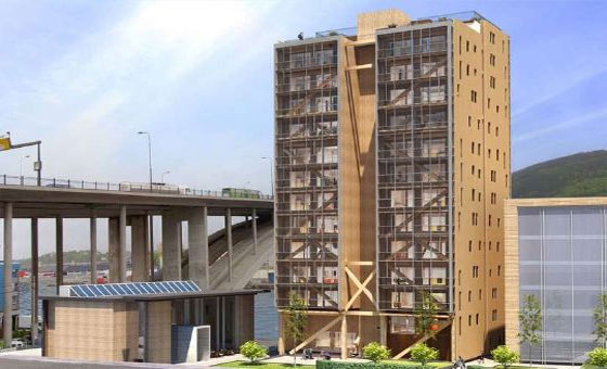 How concrete & steel elements are replaced with engineered wood for high-rise buildings